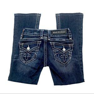 Rock Revival Gwen Boot Cut Jeans, Size 24, EUC